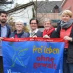 v.links: Abuzar Erdogan, SPD-Bundestagskandidat; Wilma Waldt; Maria Noichl, MdEP; Elisabeth Jordan, SPD-Bezirks- und Stadträtin; Britta Promann, stellv. AsF-Vorsitzende Rosenheim