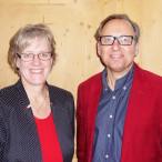 Unterbezirksvorsitzende Elisabeth Jordan mit dem Faktionsvorsitzenden Robert Metzger