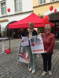 Am Infostand der SPD