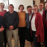 Bild v. l.: Werner Mittermeier, Britta Promann, Hans-Peter Schweitzer, Gabi Leicht, Mathilde Schartel, Elisabeth Jordan, Robert Metzger, Ferdinand Esser.