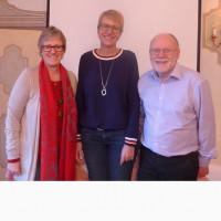 v. l.: SPD-Bezirksrätin Elisabeth Jordan; SPD-Landtagskandidatin Britta Promann; Helmut Pritschet, AG 60plus Vorsitzdenr