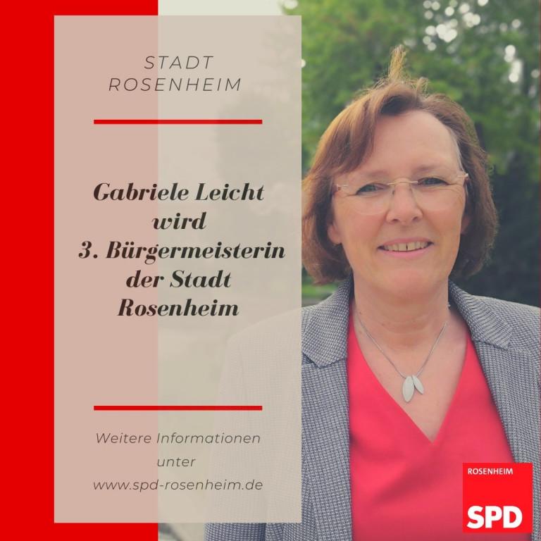 Gabi Leicht wird 3. Bürgermeisterin